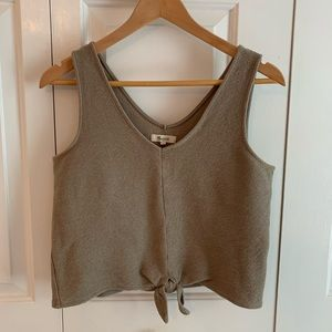 Madewell Tie-Front V-neck Tank, size M